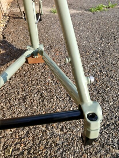 Pioneer Valley Frameworks chain hanger on a custom handmade bike frame options and features Picture