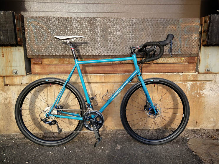 Pioneer Valley Frameworks Greylock+ custom all-road bike steel frame handmade handbuilt US Made road riding bicycle Compass Tires custom steel fork lightweight Shimano Ultegra Ritchey King Cage Chris King EastworksPicture