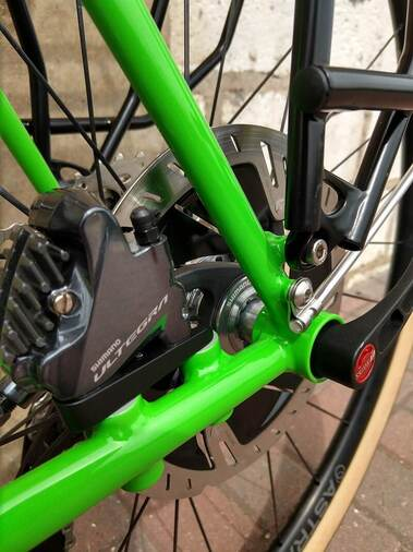 Pioneer Valley Frameworks lower rack mounts fender mounts flat mount disc brake custom bike frame options Picture