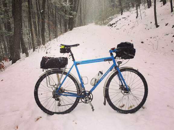 Pioneer Valley Frameworks bicycle adventure commute bike commuter snow ride all weather riding massachusetts mt tom